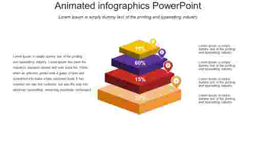 animated infographics powerpoint - Diamond model